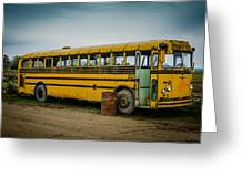 Abandoned School Bus Greeting Card