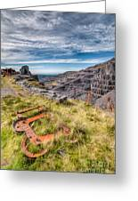 Abandoned Slate Quarry Greeting Card