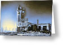 Abandoned Slaughterhouse In Winter Greeting Card