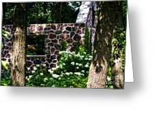 Abandoned Spring House Greeting Card