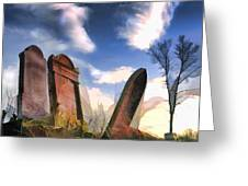 Abandoned Tombstones On The Prairie Greeting Card
