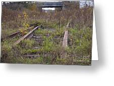 Abandoned Tracks Greeting Card