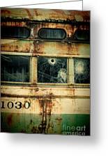 Abandoned Train Car Greeting Card