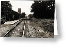 Abandoned Train Station Greeting Card