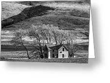 Abandoned Two-story Farmhouse - P Road Nw - Waterville - Washington - May 2013 Greeting Card