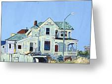 Abandoned Victorian In Oakland  Greeting Card