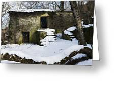 Abandoned Villages On Winter Time - Inverno Nei Paesi Abbandonati 06 Greeting Card
