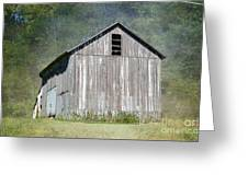 Abandoned Vintage Barn In Illinois Greeting Card
