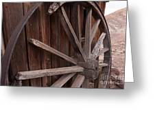 Abandoned Wagon Wheel Greeting Card