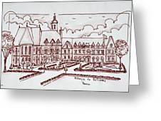Abbaye De Valloires, Argoules, France Greeting Card