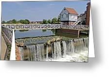 Abbey Mill And Weir Greeting Card