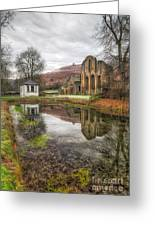 Abbey Reflection Greeting Card by Adrian Evans