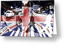 Abbey Road Union Jack Greeting Card