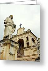 Abbey Statues Greeting Card