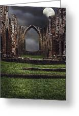Abbey Steps Greeting Card by Amanda Elwell