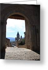 Abbey Through Doorway - Cluny Greeting Card