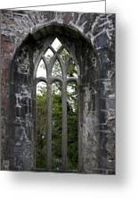 Abbey Window  Greeting Card
