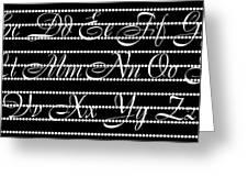 Abc 123 Black Greeting Card