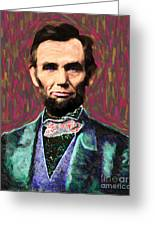 Abe 20130115 Greeting Card by Wingsdomain Art and Photography