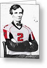 Abe Lincoln In A Matt Ryan Atlanta Falcons Jersey Greeting Card