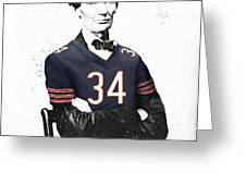 Abe Lincoln In A Walter Payton Chicago Bears Jersey Greeting Card