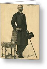 Abel Hermant (1862-1950) French Writer Greeting Card