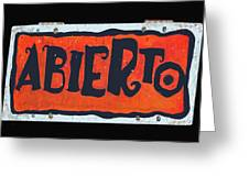 Abierto Greeting Card