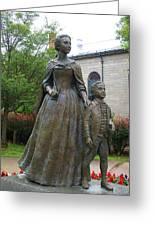 Abigail Adams Statue Greeting Card