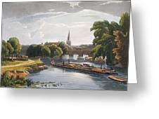 Abingdon Bridge And Church, Engraved Greeting Card