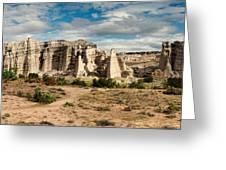 Abiquiu New Mexico Plaza Blanca In Technicolor Greeting Card