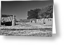 Abo Ruins 4 In Bw Greeting Card