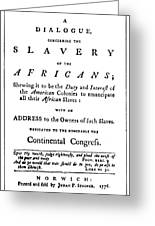 Abolitionist Tract, 1776 Greeting Card