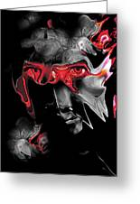 About Face Abstract Portrait Greeting Card