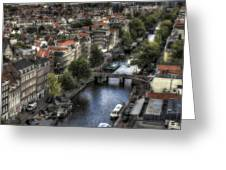 Above Amsterdam Greeting Card