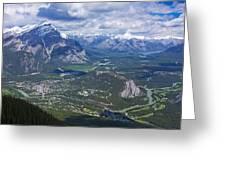 Above Banff Greeting Card