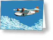 Above It All  The Grumman Goose Greeting Card