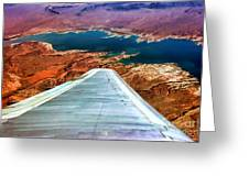 Above Lake Mead By Diana Sainz Greeting Card