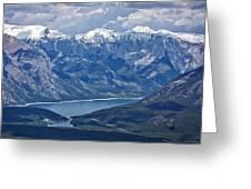 Above Lake Minnewanka #2 Greeting Card