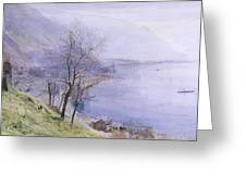 Above Montreux Greeting Card