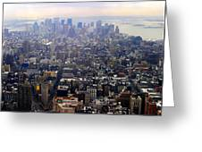 Above New York Greeting Card