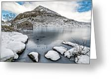 Above The Ice Greeting Card