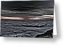 Above The Marine Layer V2 Greeting Card
