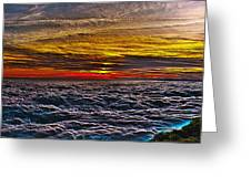 Above The Marine Layer V3 Greeting Card