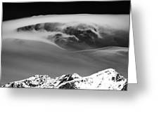 Above The Peaks Greeting Card