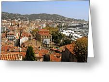 Above The Roofs Of Cannes Greeting Card