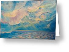 Above The Sun Splashed Clouds Greeting Card