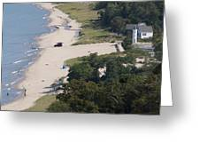 Above View Of Empires Beach Greeting Card