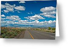 Abq From 9 Mile Hill Greeting Card