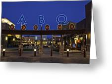 Abq Uptown Entrance Greeting Card