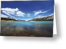 Abraham Lake Alberta Canada Greeting Card